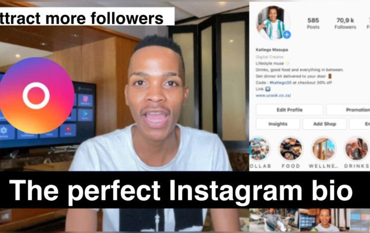 the perfect instagram bio