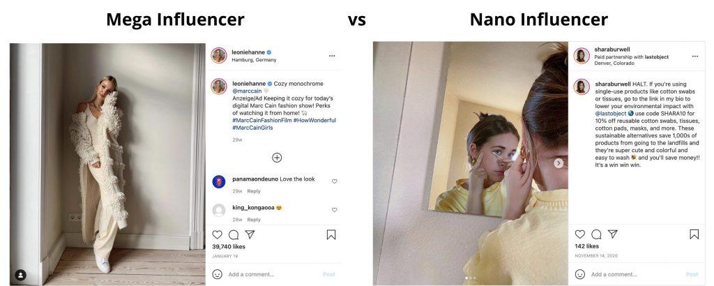 mega vs nano influencers